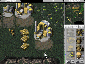 Screenshot from Command & Conquer, the first massively successful real-time strategy game.