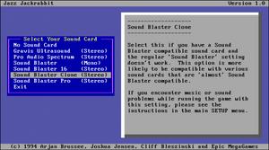 A typical MS-DOS installer.