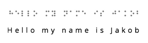 An example of Braille script.
